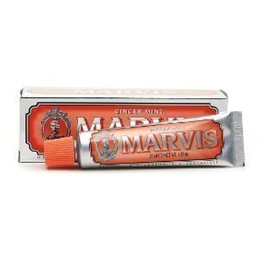 シリング虫あいまいなMarvis Toothpaste Ginger Mint Travel Size by Marvis [並行輸入品]