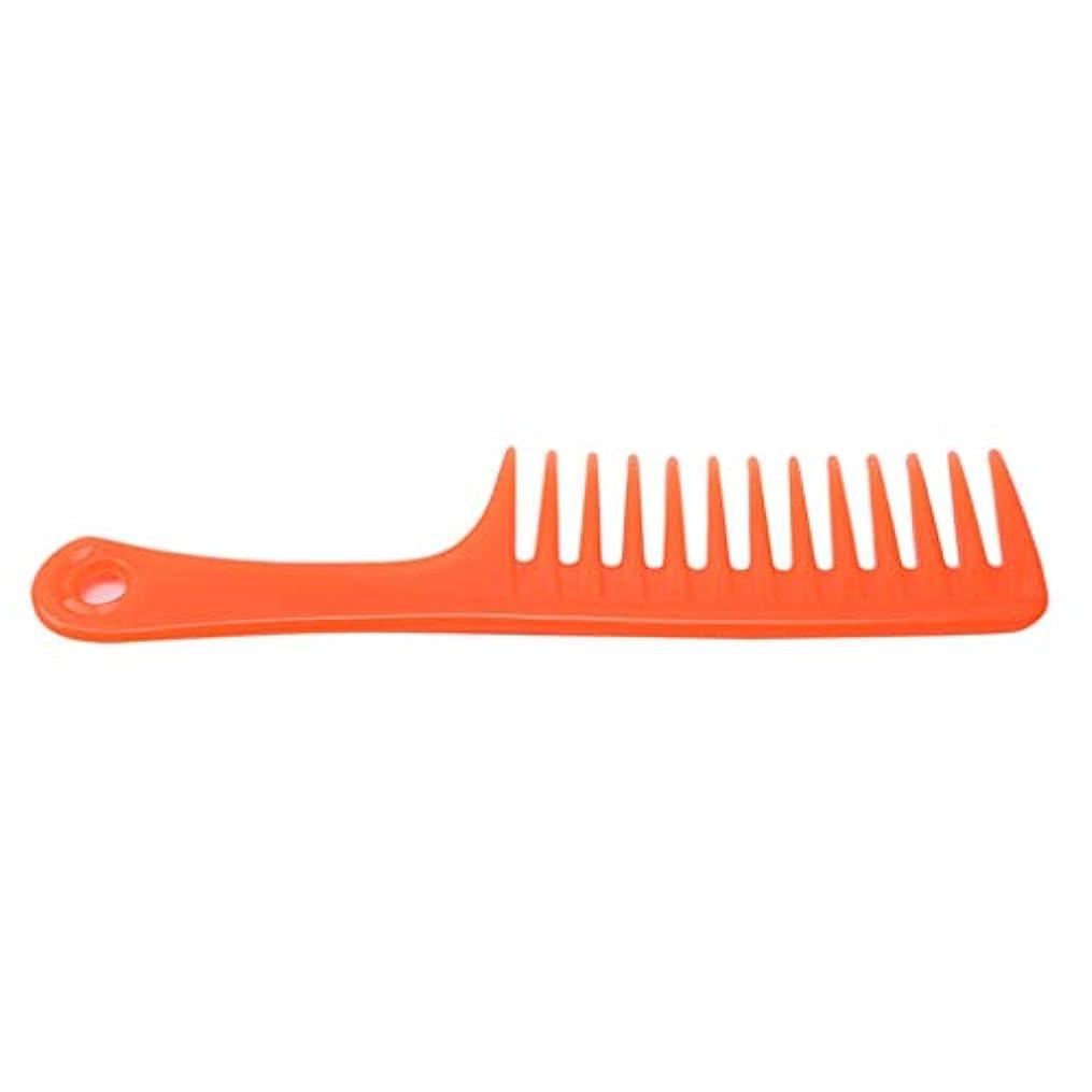 テスピアンルーム失望させるCngstar くし 大きな歯の櫛   世帯 理髪 道具 ヘアーコーム 広い歯の櫛 大きな歯の櫛 (オレンジ)