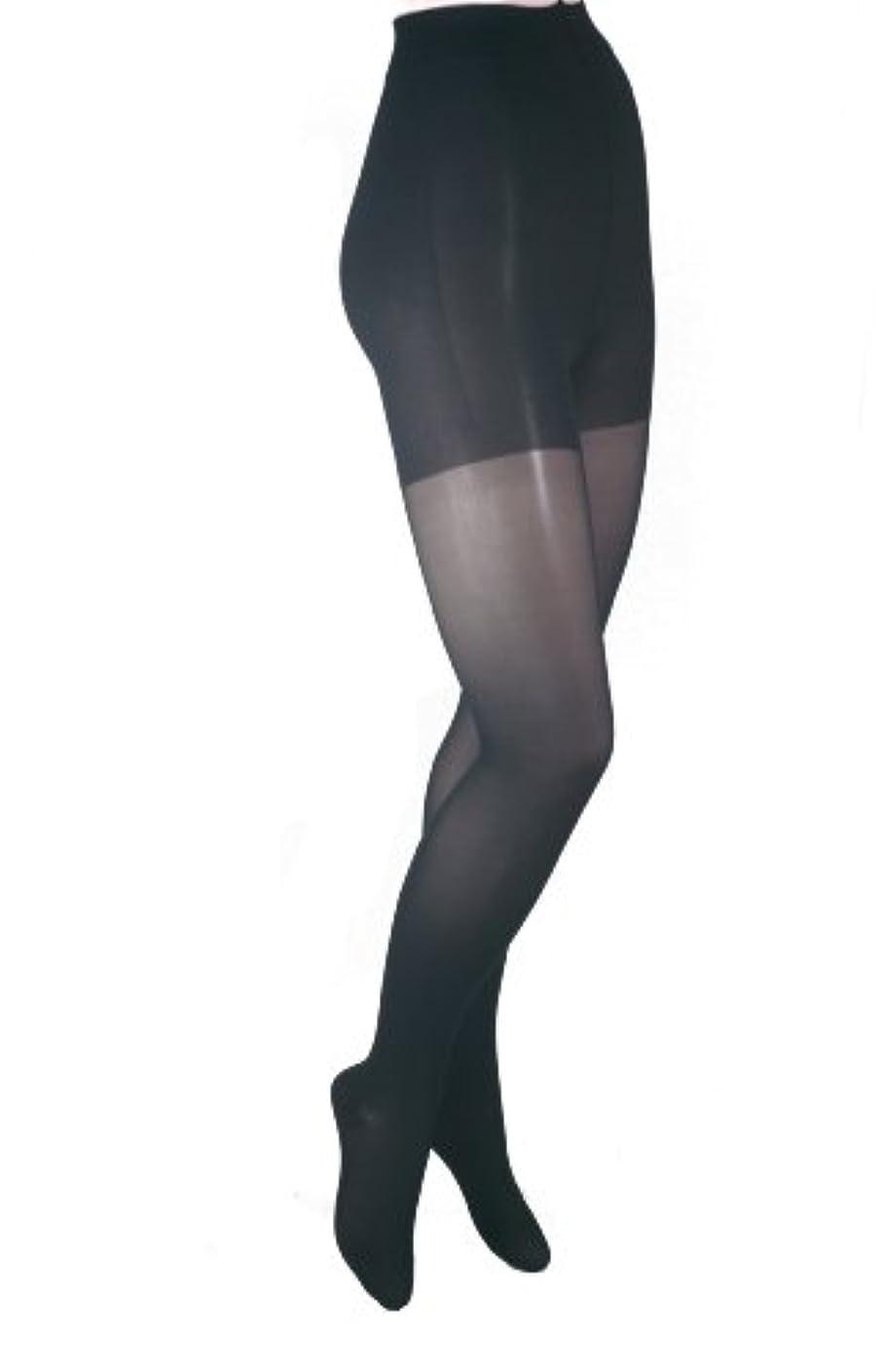 どういたしましておとうさんオールITA-MED Sheer Pantyhose, Compression (20-22 mmHg) Black, Queen Plus by ITA-MED