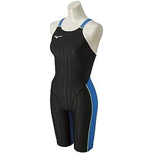 MIZUNO(ミズノ) レース用競泳水着 レディース ストリームアクセラ ハーフスーツ FINA承認 N2MG822691 サイズ:L ブラック×ライトブルー N2MG8226 91:ブラック×ライトブルー L