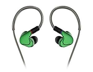 NICEHCK M6 複合ダイナミックドライバ + バランスドアーマチュア4基 カナル型イヤホンMMCX コネクタ リケーブル メタルハウジング 2DD(複合DD)+4BA 3.5mmプラグ ハイブリッド 銀メッキ高純銅ケーブル付属 耳掛け式 高解像力 高音質 高遮音性 中華イヤホン (緑色)