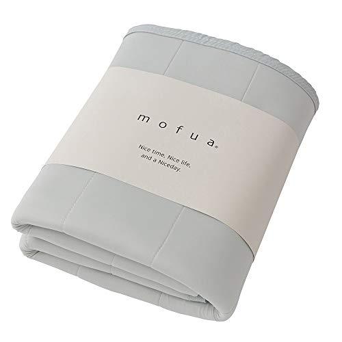 mofua cool(モフア クール) 夏用 敷きパッド グレー シングル ひんやり クールタッチ 接触冷感 パッド シーツ 通気性に優れた3Dメッシュ ムレない 31640113