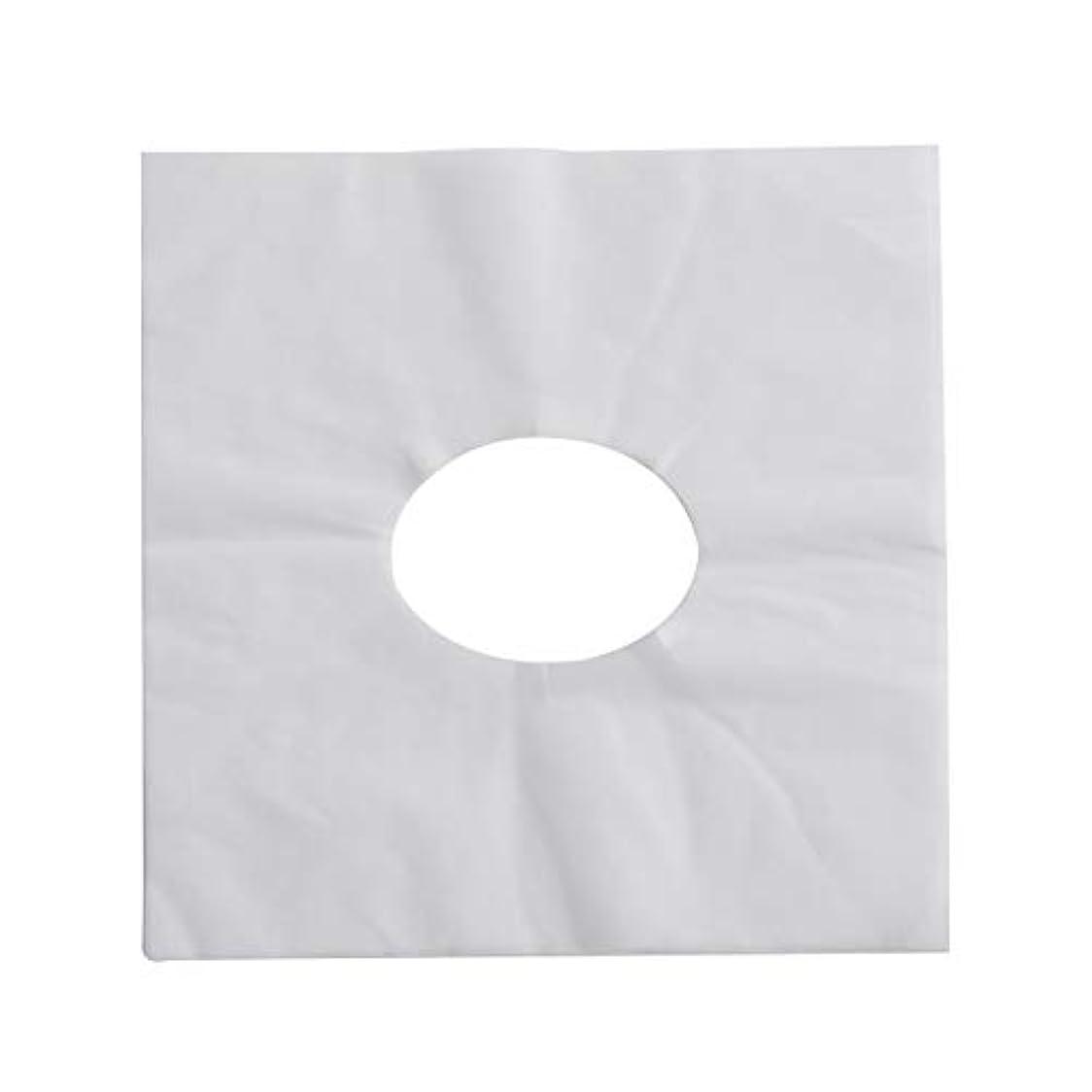 良心的開示するデコレーションSUPVOX 100ピース使い捨てマッサージフェイスクレードルカバーフェイスマッサージヘッドレストカバー用スパ美容院マッサージ(ホワイト)