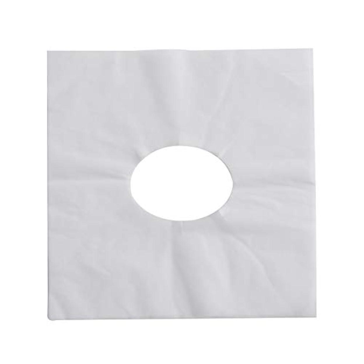 SUPVOX 100ピース使い捨てマッサージフェイスクレードルカバーフェイスマッサージヘッドレストカバー用スパ美容院マッサージ(ホワイト)