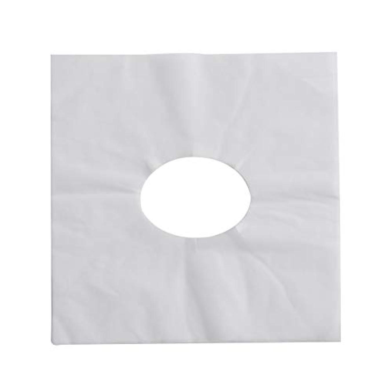 適応に対処する不器用SUPVOX 100ピース使い捨てマッサージフェイスクレードルカバーフェイスマッサージヘッドレストカバー用スパ美容院マッサージ(ホワイト)