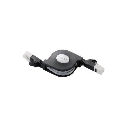 ELECOM LANケーブル 爪折れ防止 巻き取り CAT6準拠 1.5m ブラック LD-MCTGT/BK