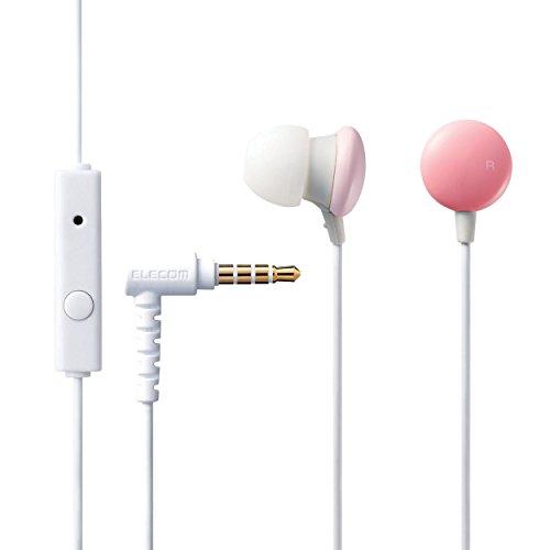 ELECOM/エレコム スマートフォン用ステレオヘッドホンマイク Colors ピンク EHP-CC100MPN