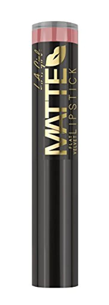 分配しますレンドこするL.A. GIRL Matte Flat Velvet Lipstick Hush (並行輸入品)