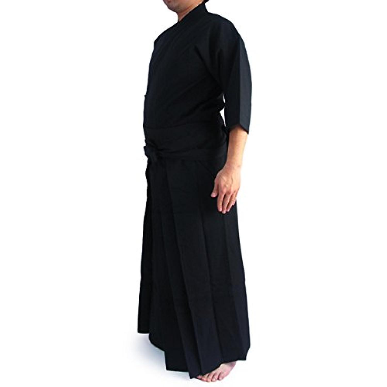 【居合道着】徳用居合道衣?袴黒セット