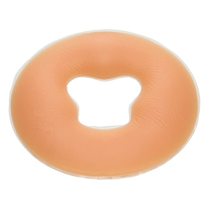 スマートより良い涙ジェル フェイスクッション シリコン 丸型 うつぶせマクラ (エステ 整体) FV-925 (ナチュラル)