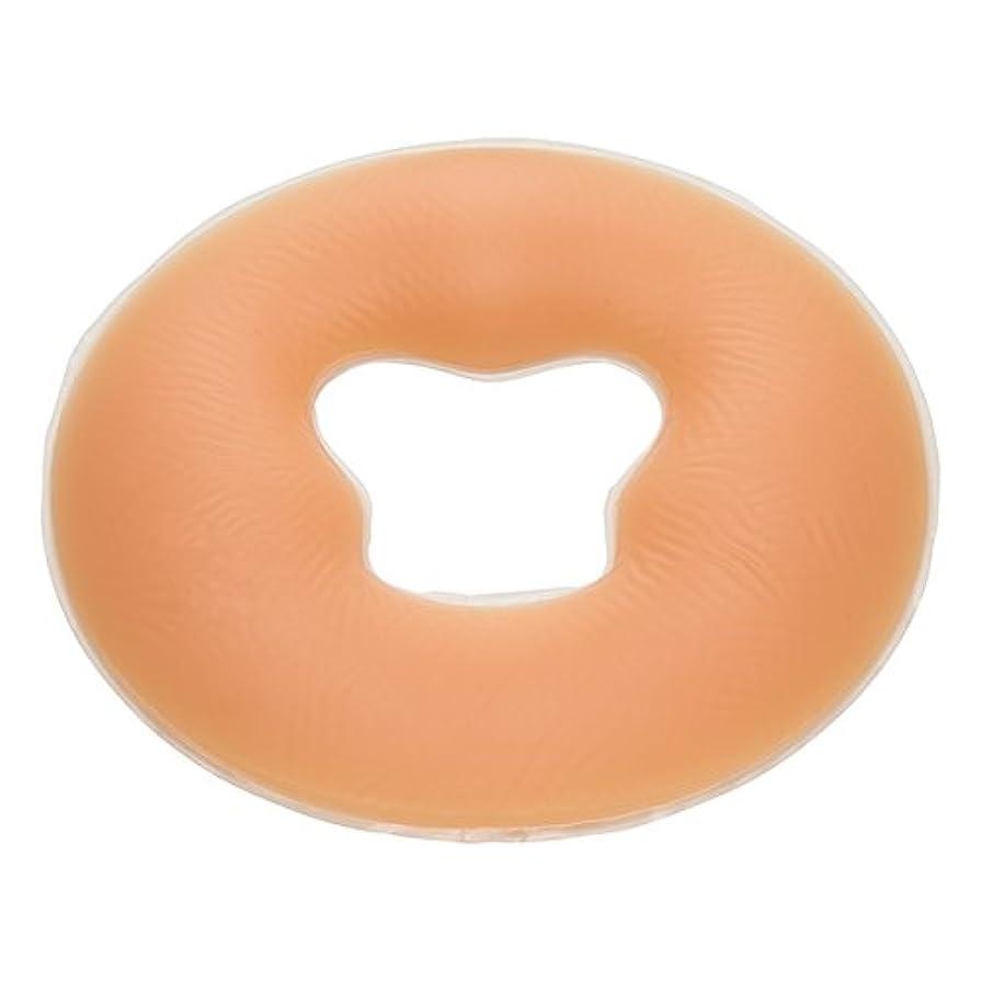 麺アセジェル フェイスクッション シリコン 丸型 うつぶせマクラ (エステ 整体) FV-925 (ナチュラル)
