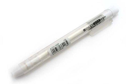 三菱鉛筆 ノック式消しゴム E・KNOCK 事務用タイプ 白軸 1本