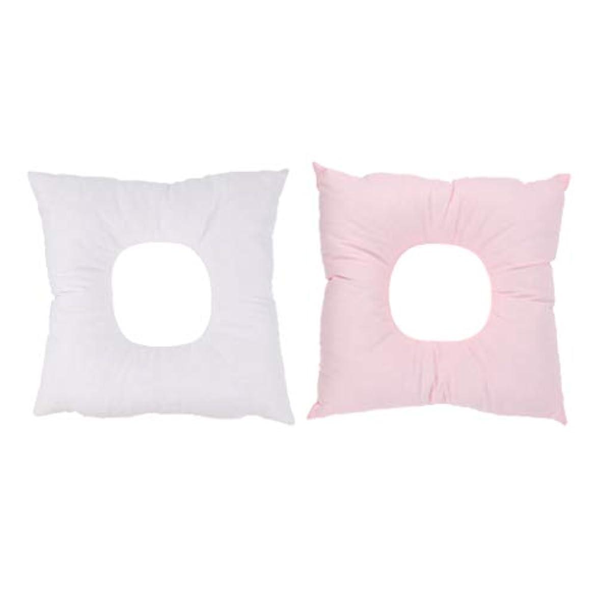 Perfeclan 2個セット フルフェイス フォームクッション 顔枕 うつ伏せ 顔マクラ マッサージ