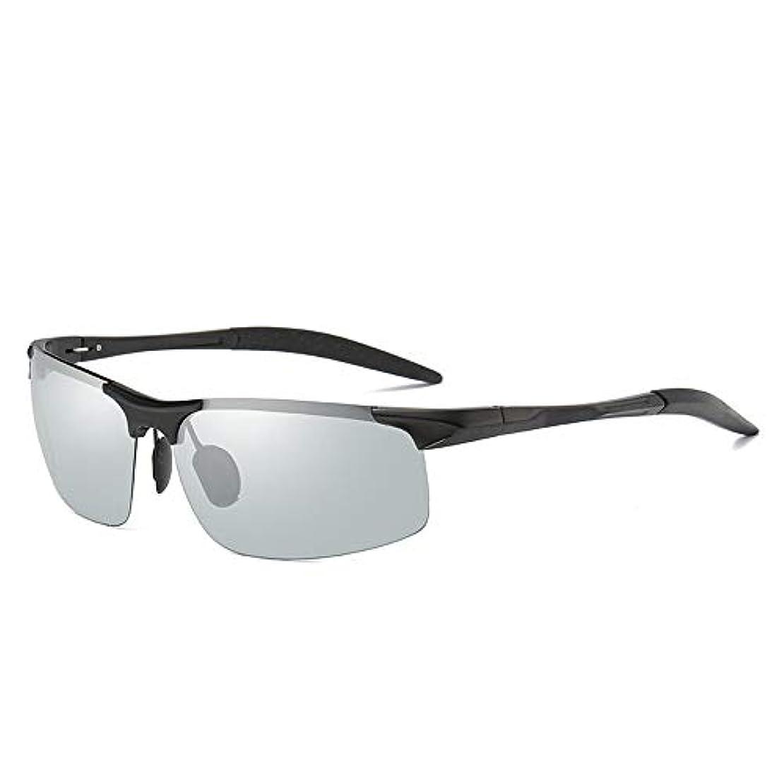 宿る音楽家ショルダースポーツサングラス 屋外インテリジェント急速色のメガネ偏光サングラスメンズサングラスドライビングハーフボックスドライバーバイクグラススポーツサングラスサイクリングメガネ ユニセックスサングラス