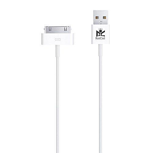 【Roiciel】iphone4/4s/ipad対応高品質30pin Dock - USBケーブル (1.0m)