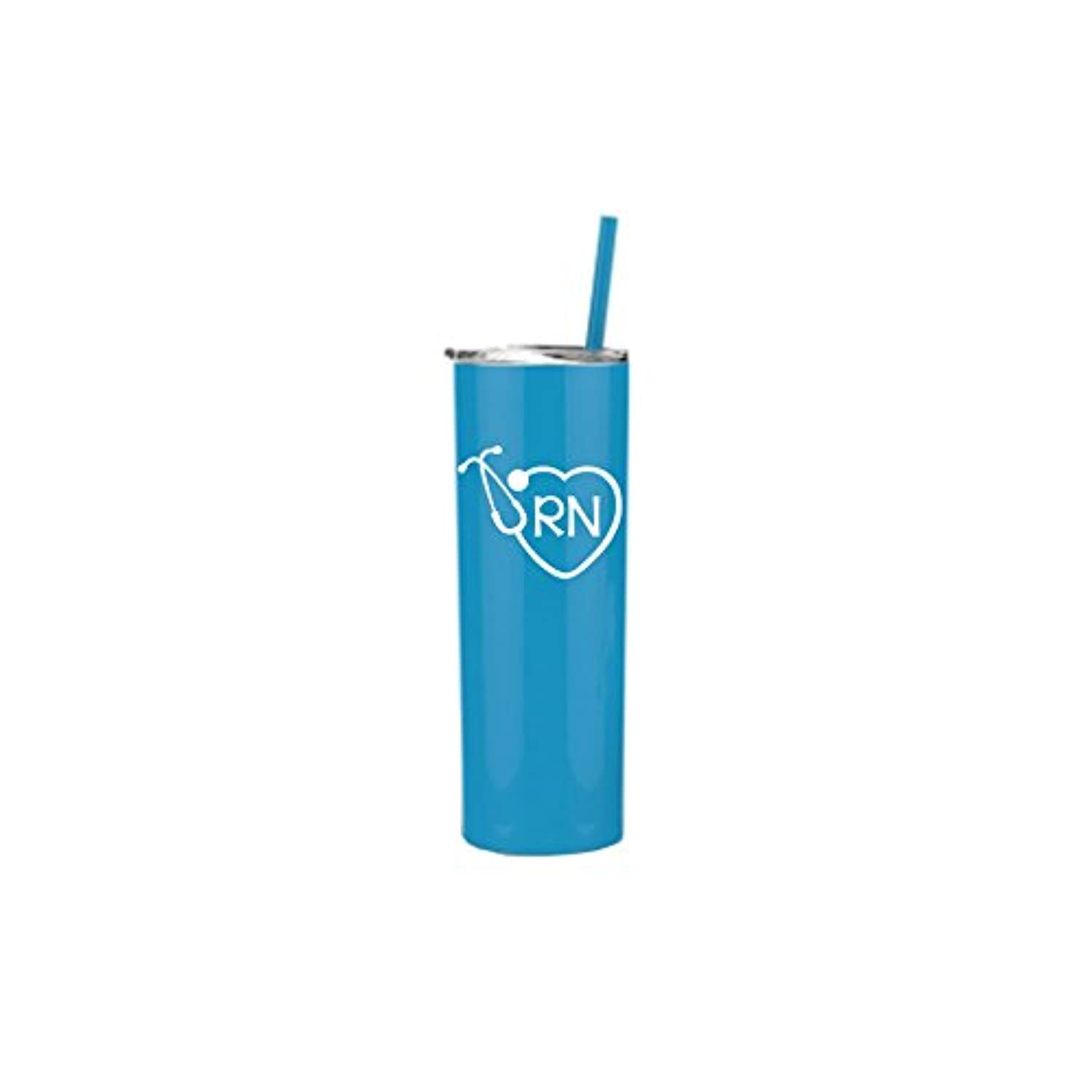 RN Tumbler Cup with Lid and Straw |看護師ギフト ブルー