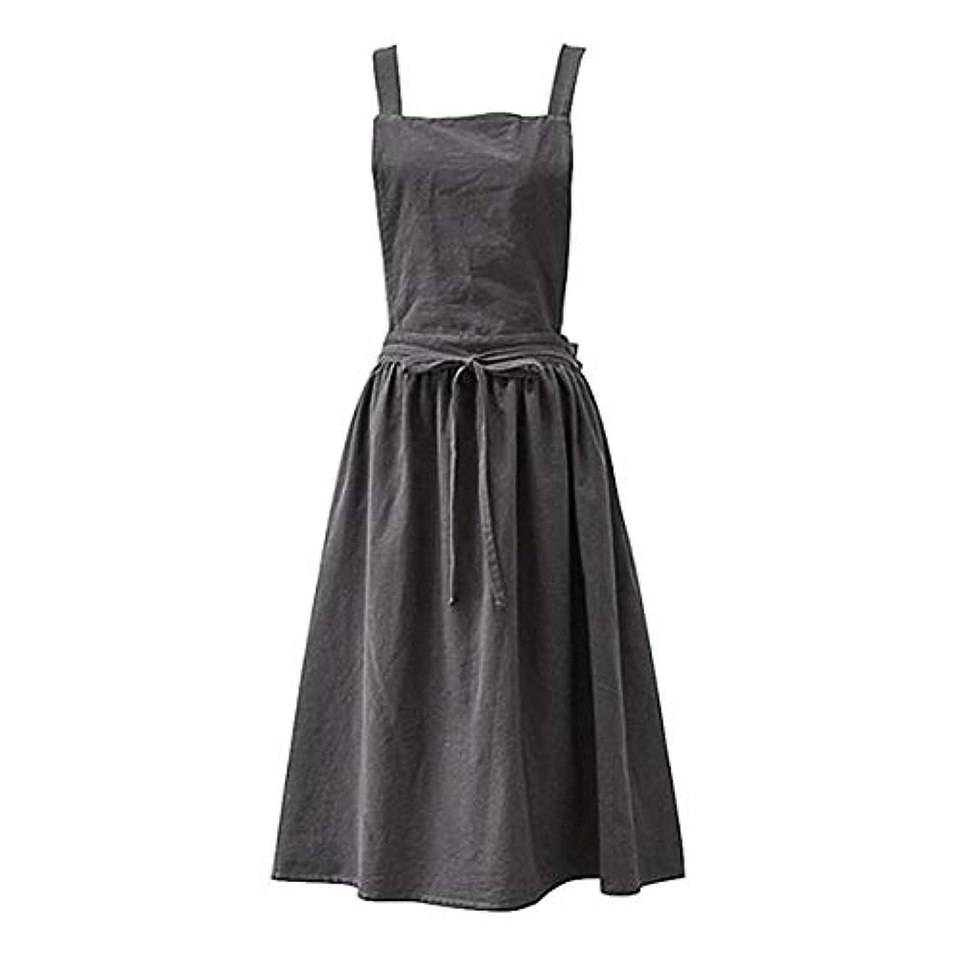 最適召喚するモーターAprons for the Kitchen Simple Washed Cotton Uniform Aprons for Woman Kitchen apron Cooking Coffee Shop apron for women Charcoal grey