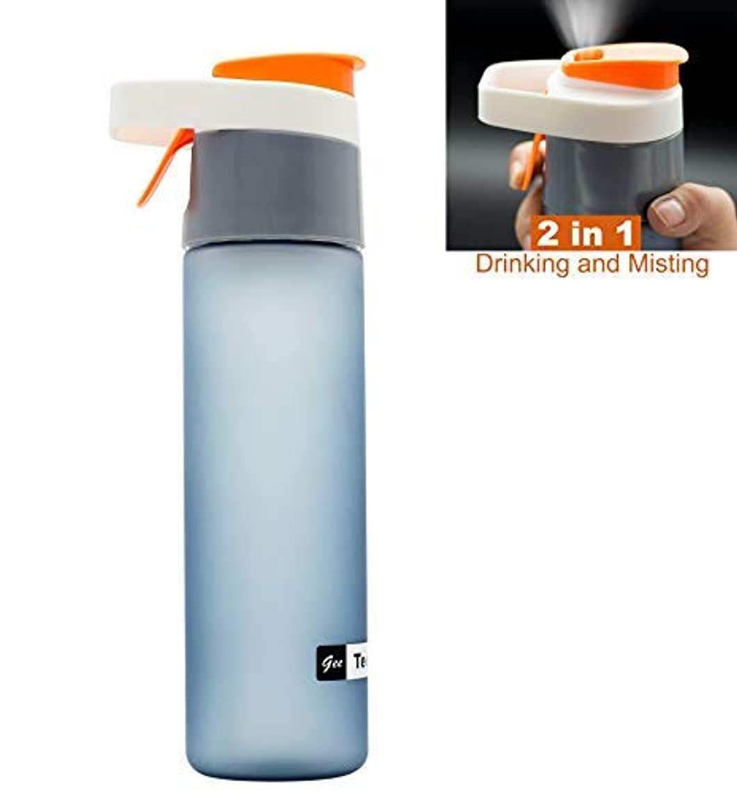 オアシス広告統計Teentumn Sports Water Bottle, Drinking and Spraying Bottle for Humidification and Cooling, 20oz (600ml), Orange [並行輸入品]