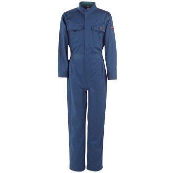 カジメイク 綿長袖つなぎ服 ブルー L 661045L