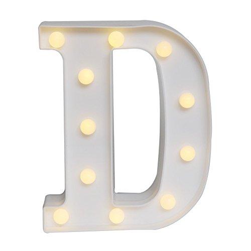 LED イルミネーション イニシャルライト アルファベットライト ホームイベント インテリア ギフト (D)