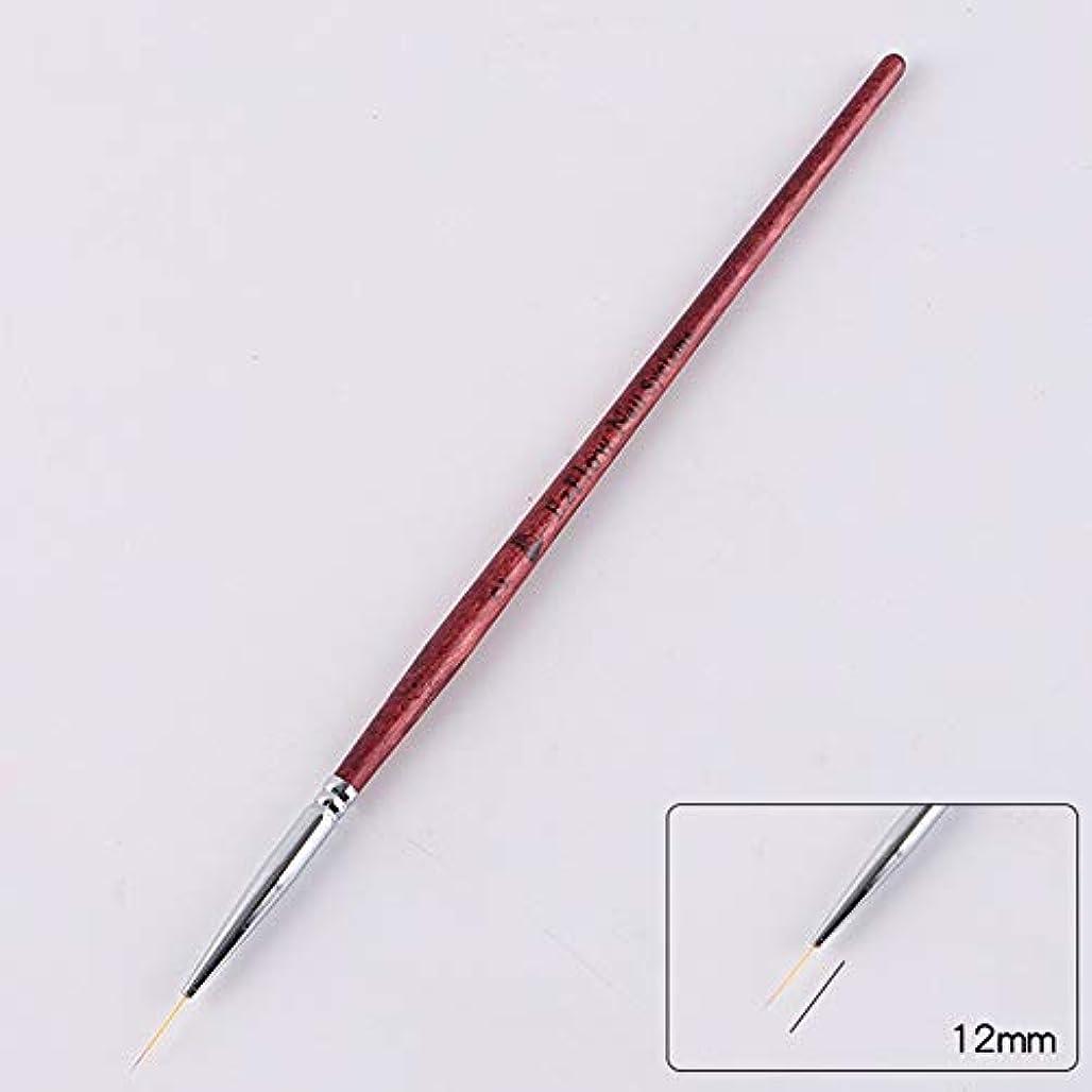 ロードされた常識キャンバスACHICOO ネイルブラシ ネイルアートライナー ブラシペン DIY ネイルアート ドットツール ネイルアートペン用 初心者   2#1.2cm
