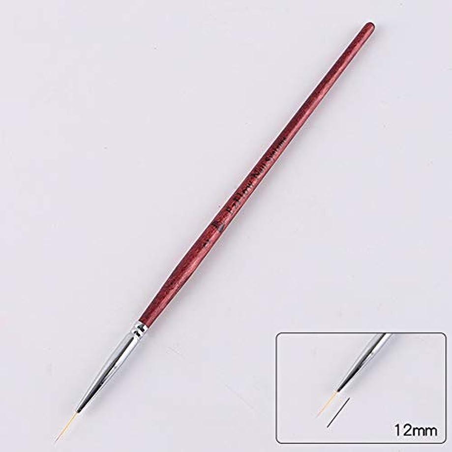 マトリックス貫通する顔料ACHICOO ネイルブラシ ネイルアートライナー ブラシペン DIY ネイルアート ドットツール ネイルアートペン用 初心者   2#1.2cm