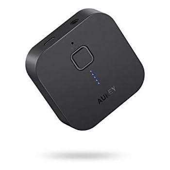 AUKEY Bluetoothレシーバー オーディオレシーバー 無線受信機 13時間連続使用 3.5mmステレオミニプラグ接続 BR-C1