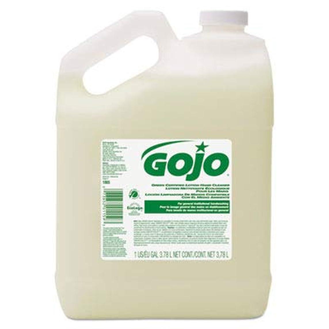 浸したライド横にgoj186504 – グリーン認定ローションハンドクリーナー、1ガロンボトル、花柄香り
