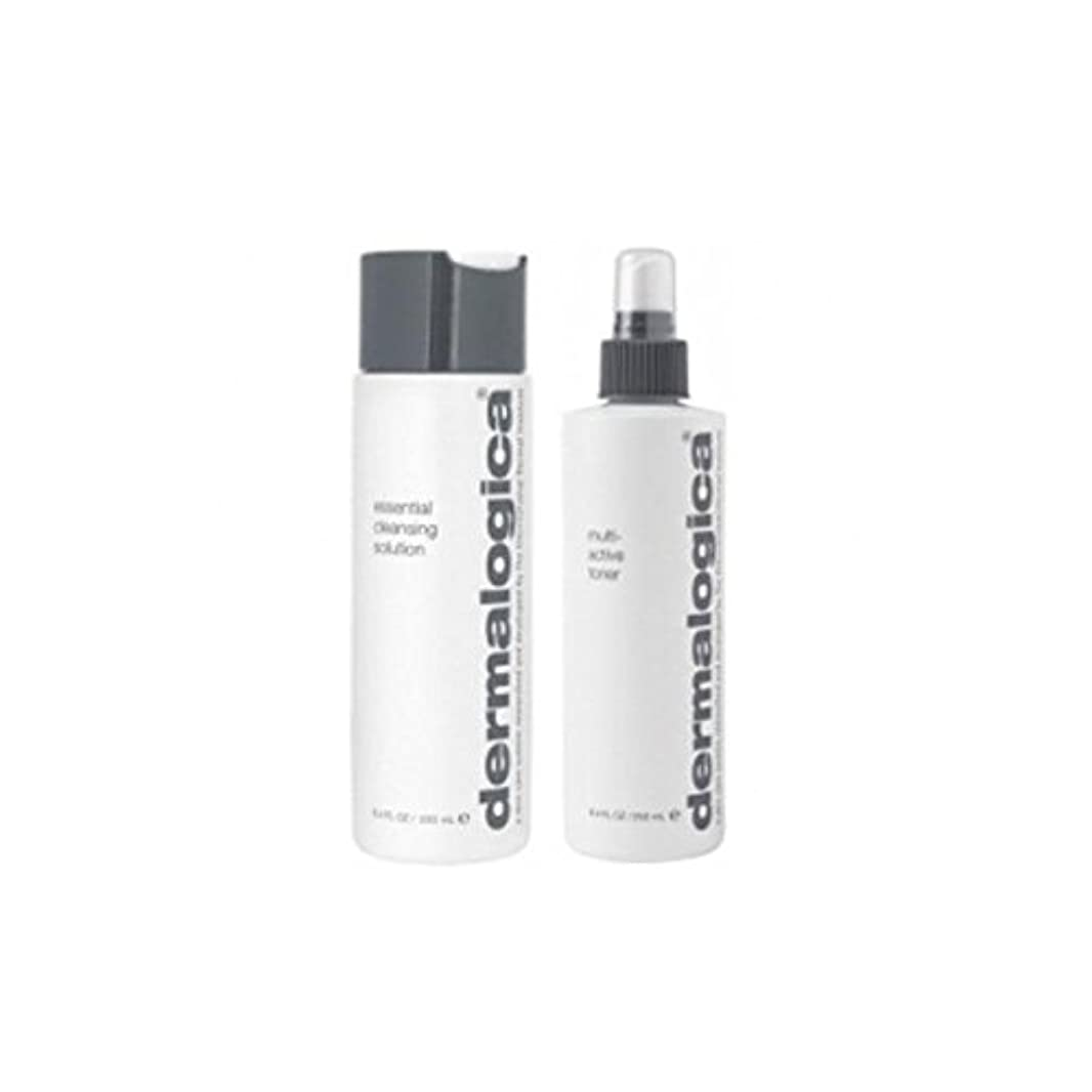 ブートチャンピオン削減ダーマロジカクレンジング&トーンデュオ - 乾燥肌 x4 - Dermalogica Cleanse & Tone Duo - Dry Skin (Pack of 4) [並行輸入品]