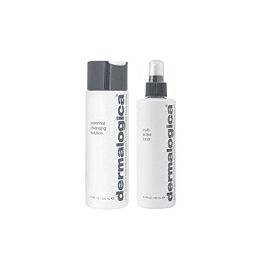 攻撃的条約プライバシーダーマロジカクレンジング&トーンデュオ - 乾燥肌 x2 - Dermalogica Cleanse & Tone Duo - Dry Skin (Pack of 2) [並行輸入品]