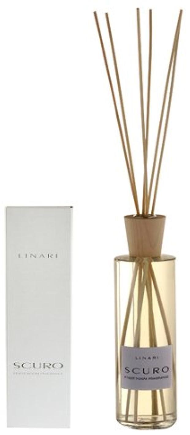 反響する政府花瓶LINARI リナーリ ルームディフューザー 500ml SCURO スクロ ナチュラルスティック natural stick room diffuser