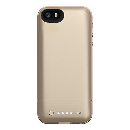 メーカー正規輸入品 保証付 mophie juice pack air for iPhone SE/5s/5 (1,700mAh バッテリー内臓ケース) ゴールド(金色) MOP-PH-000027 並行輸入製品