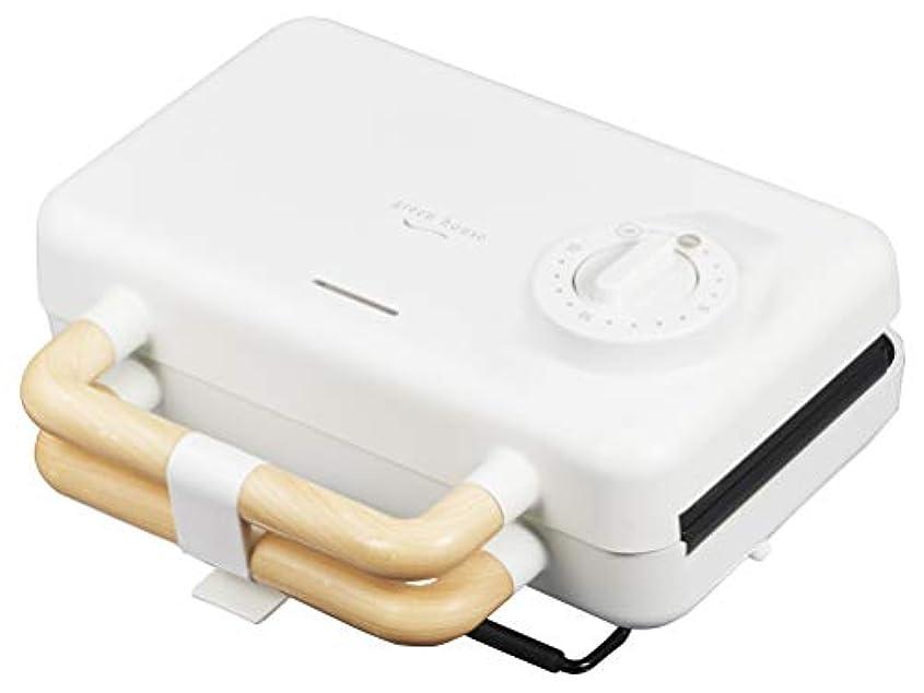 味付けデジタル心配グリーンハウス ブルックリンスタイル 2枚焼きホットサンドメーカー プレート取り外し&水洗い ホワイト GH-HOTSBEC-WH