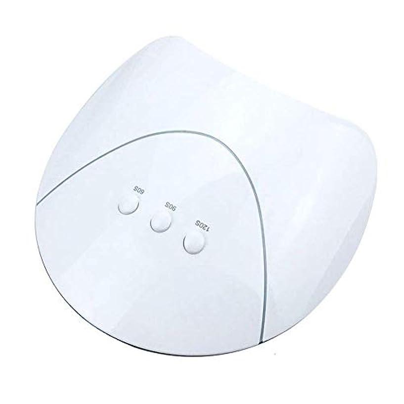 サラミ強盗回転ネイルドライヤー用ネイルドライヤーランプ36Wネイル用UVドライヤーランプマニキュア乾燥用ネイルポリッシュアイスランプネイルマニキュア機USB充電、写真の色