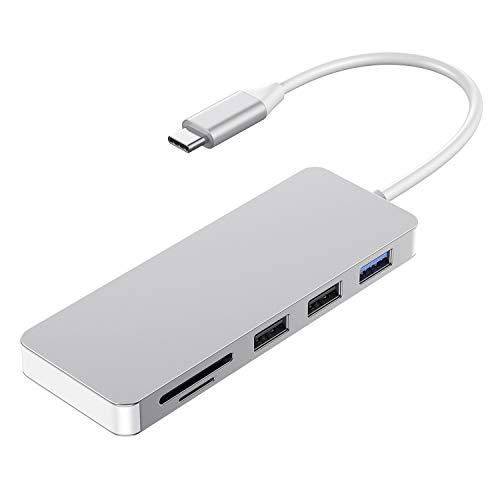 kutolo Type C ハブ 7in1 USB C ハブ USB3.0 ハブHDMI出力 4K対応PD給電TF/SDカードリーダー (7in1, シルバー)
