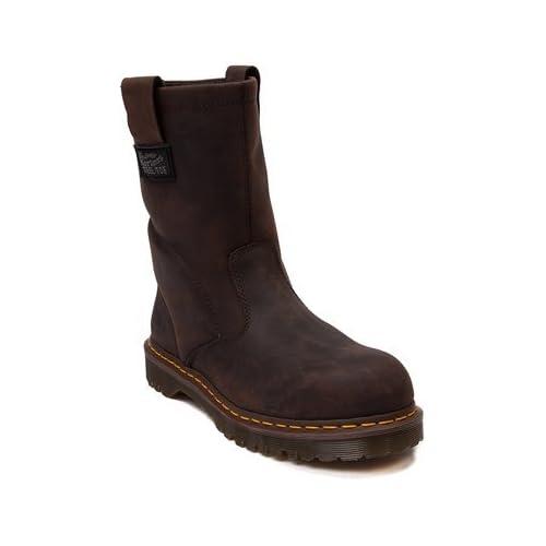 (ドクターマーチン) Dr.Martens 靴・シューズ メンズブーツ Mens Dr. Martens Wellington OSHA Steel Toe Boot Brown Brown ブラウン US 8 (26cm)