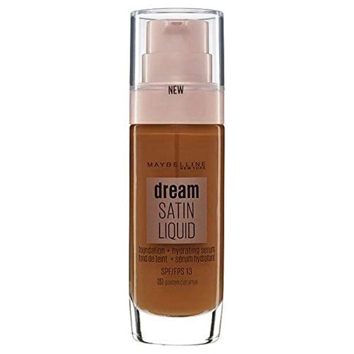 体細胞不要ほこりっぽい[Maybelline ] メイベリンの夢のサテンリキッドファンデーション黄金キャラメル30ミリリットル - Maybelline Dream Satin Liquid Foundation Golden Caramel...