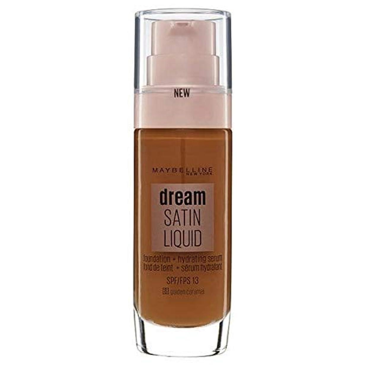枝スケッチ議会[Maybelline ] メイベリンの夢のサテンリキッドファンデーション黄金キャラメル30ミリリットル - Maybelline Dream Satin Liquid Foundation Golden Caramel...