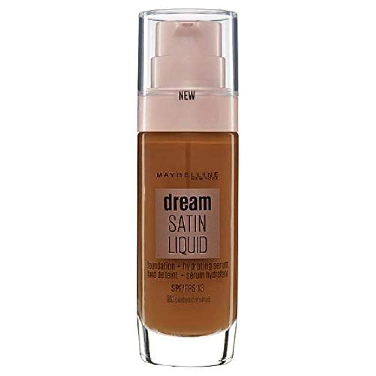 代表団ゼロ器用[Maybelline ] メイベリンの夢のサテンリキッドファンデーション黄金キャラメル30ミリリットル - Maybelline Dream Satin Liquid Foundation Golden Caramel...