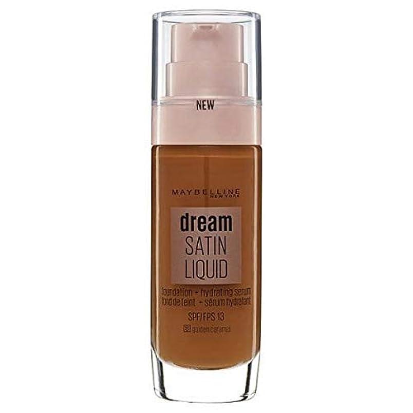 名目上の批判的にビーズ[Maybelline ] メイベリンの夢のサテンリキッドファンデーション黄金キャラメル30ミリリットル - Maybelline Dream Satin Liquid Foundation Golden Caramel...