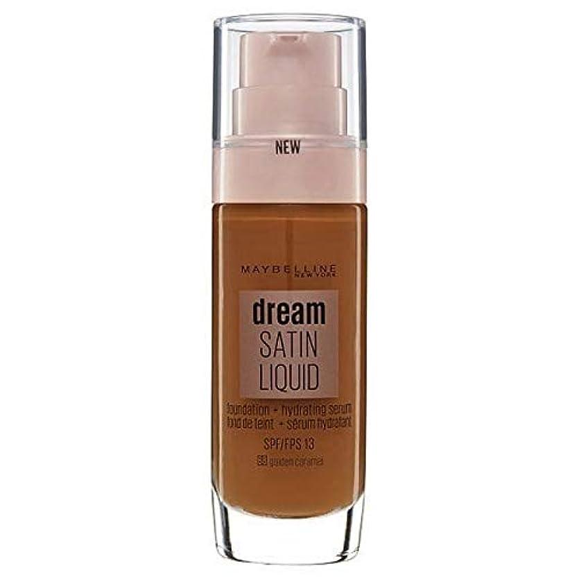 ミルク休憩する便宜[Maybelline ] メイベリンの夢のサテンリキッドファンデーション黄金キャラメル30ミリリットル - Maybelline Dream Satin Liquid Foundation Golden Caramel...