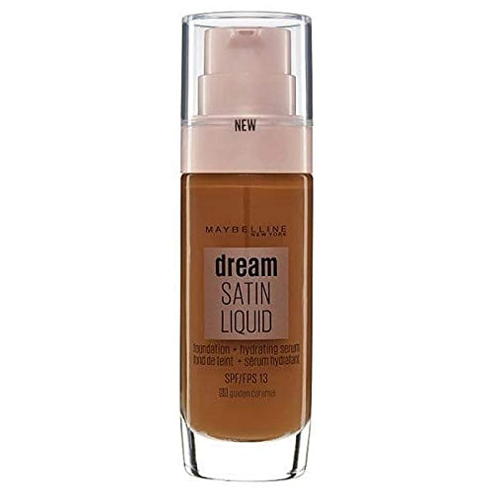 ベルト本質的ではない会計[Maybelline ] メイベリンの夢のサテンリキッドファンデーション黄金キャラメル30ミリリットル - Maybelline Dream Satin Liquid Foundation Golden Caramel...