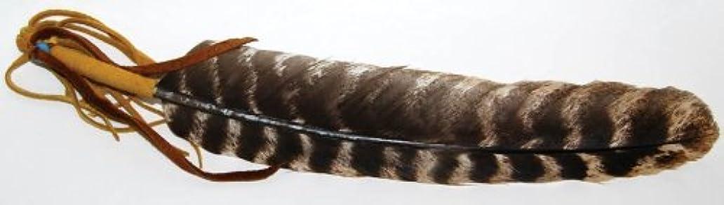 敬着替える乏しい動物フェザーレザーWrapped Incense Smudge Stickツール