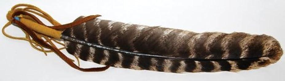 調整反射孤独な動物フェザーレザーWrapped Incense Smudge Stickツール