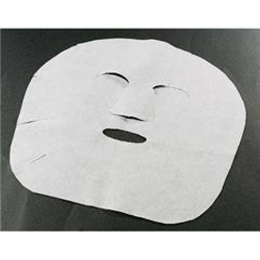 前件タッチ下手大きめ エステ仕様 フェイスシート マスク 100枚/不織布タイプ