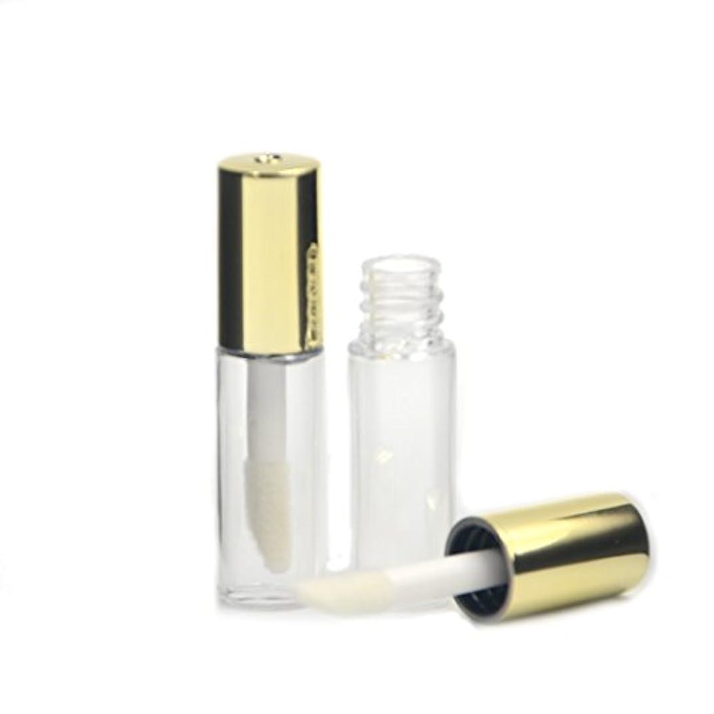 カイウス虚弱連邦Angelakerry リップグロスチューブ 1.2ml ゴールド リップグロス容器 手作り化粧品 手作りコスメ 化粧品容器 5本セット [並行輸入品]