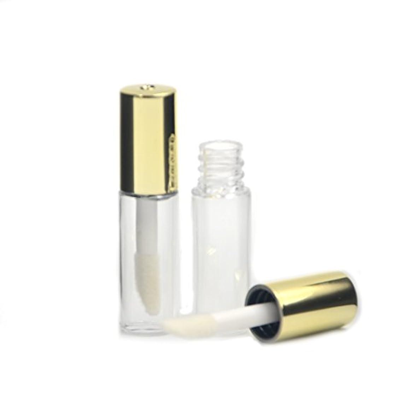 のスコア免除危険Angelakerry リップグロスチューブ 1.2ml ゴールド リップグロス容器 手作り化粧品 手作りコスメ 化粧品容器 20本セット [並行輸入品]