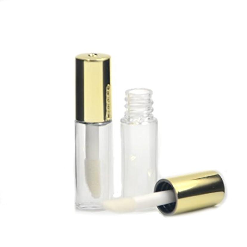 分布世論調査サイトAngelakerry リップグロスチューブ 1.2ml ゴールド リップグロス容器 手作り化粧品 手作りコスメ 化粧品容器 5本セット [並行輸入品]