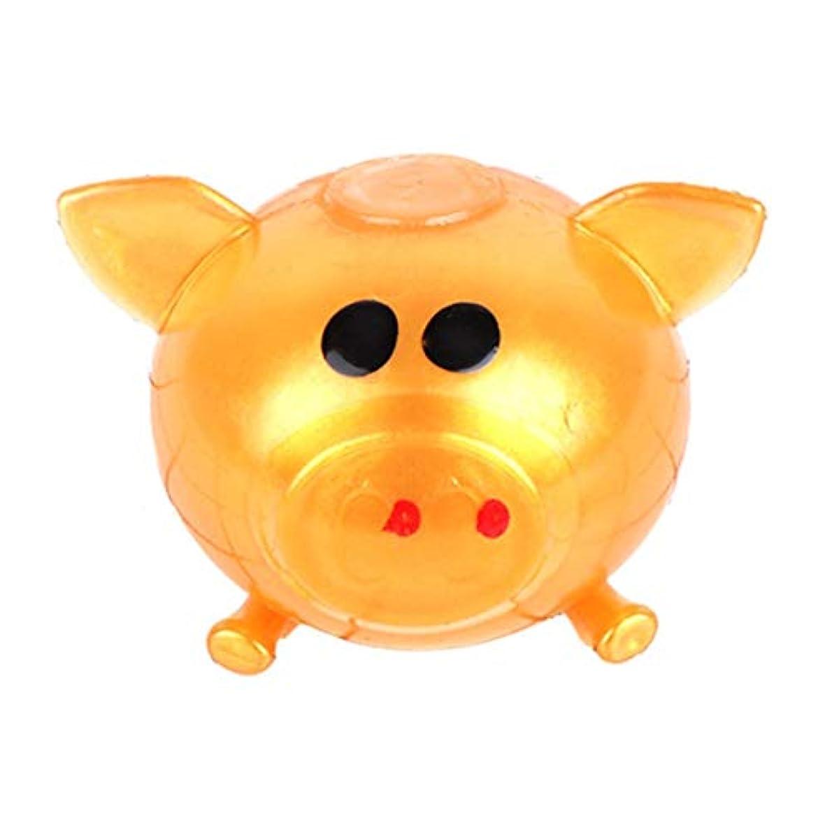 エレガントゴルフ効果的にTinygrass アンチストレスグッズさまざまなタイプの豚のおもちゃ減圧スプラットボールベントグッズベントボール粘着性スマッシュウォーターボール(色:ゴールド)