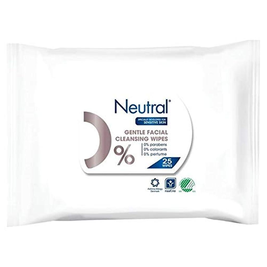 酔って神経衰弱後[Neutral ] ニュートラル0%顔はパックあたり25ワイプ - Neutral 0% Face Wipes 25 per pack [並行輸入品]